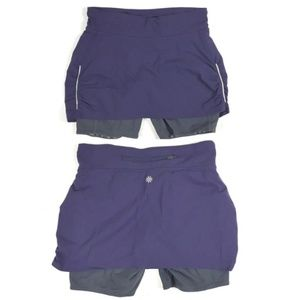 Bundle of 2 Athleta women's active wear skorts
